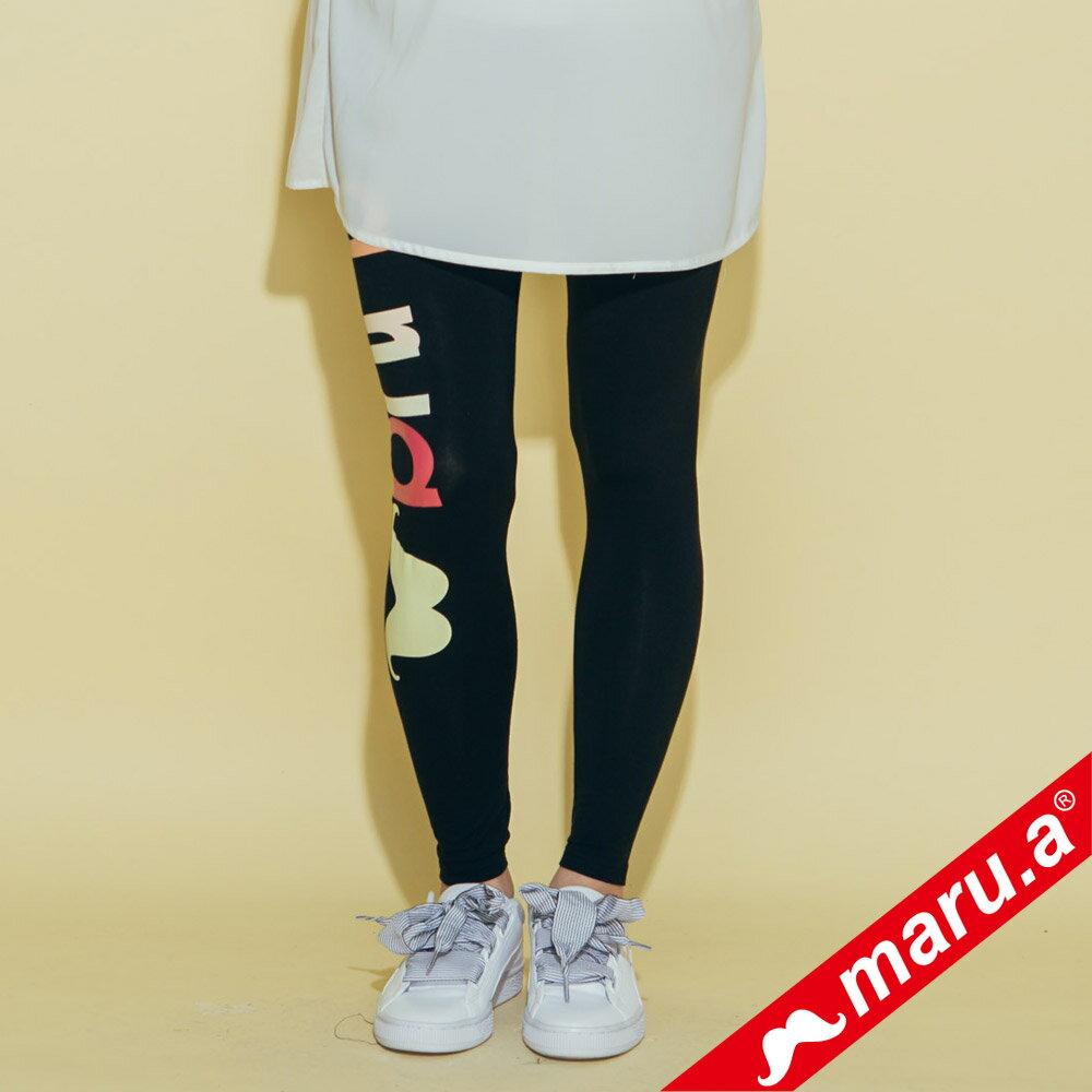 【maru.a】字母超彈性緊身內搭褲(2色)8325314