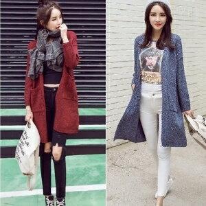 美麗大街~IR10030~ 針織衫女中長款開衫寬鬆毛衣外套 ~  好康折扣