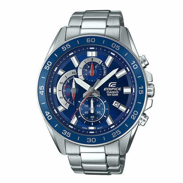 CASIO卡西歐EDIFICEEFV-550D-2A三環計時碼錶動感腕錶
