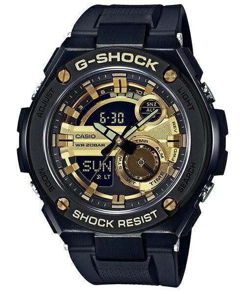 CASIO G-SHOCK GST-210B-1A9分層構造絕對強悍雙顯腕錶/52.4mm