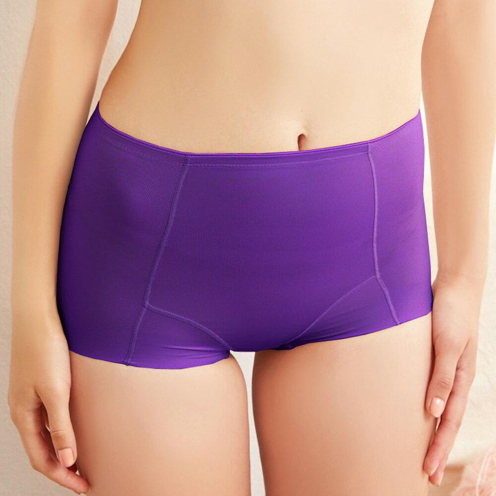 【Emon】 210丹輕塑美人 無痕修飾褲(葡萄紫) 0