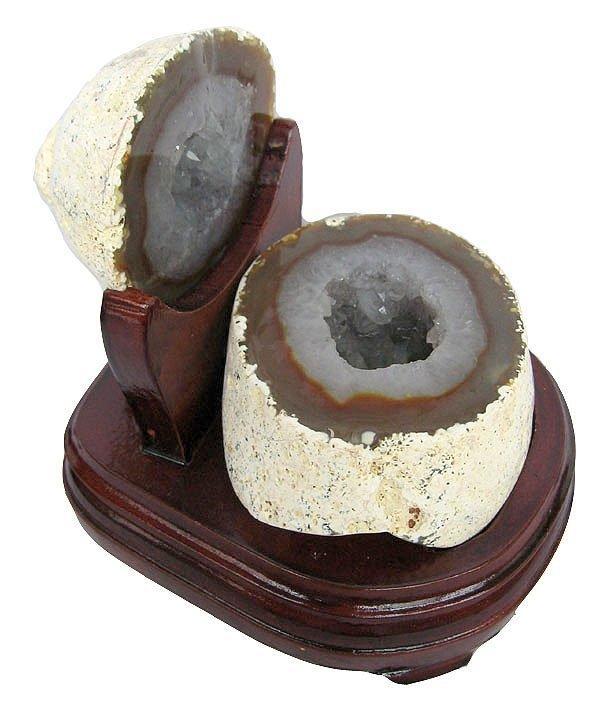 大顆粒白水晶聚寶盆擺件1.87kg瑪瑙聚寶盆水晶洞