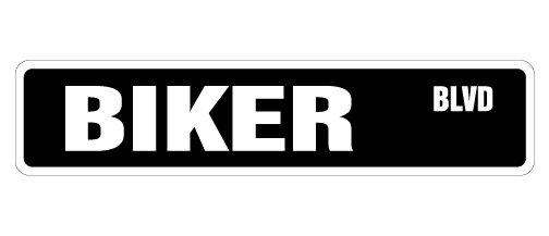 BIKER Street Sign motorcycle parts dude cycle rice Indoor/Outdoor 18