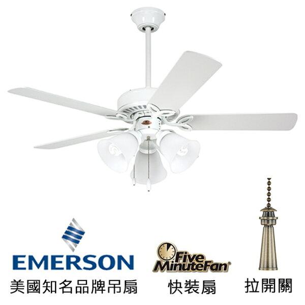 "[topfan]Emerson42""ProSeriesII42英吋吊扇附燈(CF710WW)白色(適用於110V電壓)"