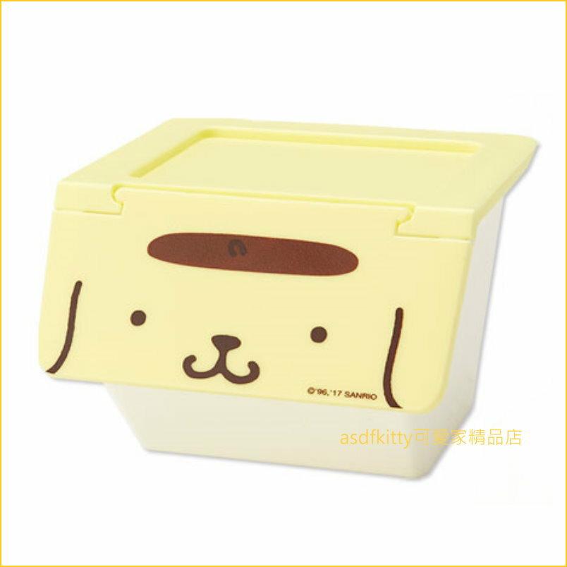 asdfkitty可愛家☆布丁狗前開式有蓋收納箱/置物箱-S-可堆疊-可放雜物.零食.玩具...等小東西-日本正版商品