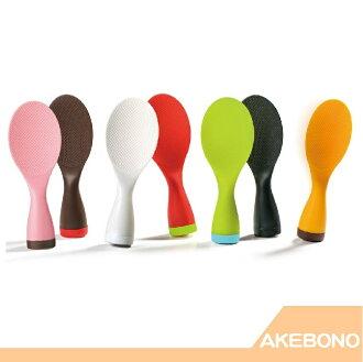 日本製原裝 曙産業 AKEBONO 繽紛馬卡龍色不倒翁飯匙 【RH shop】日本代購