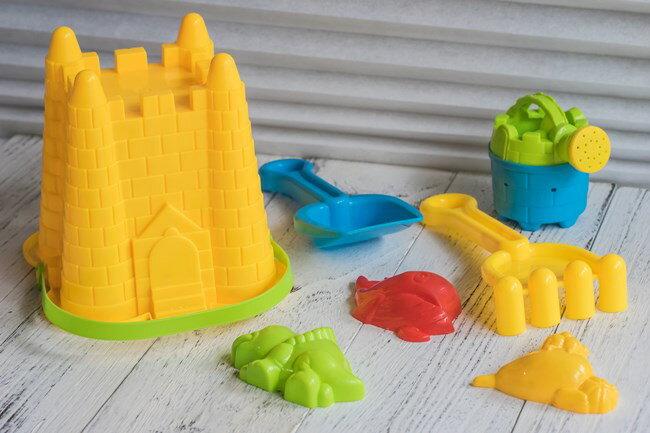 迷你組 沙灘桶 (7件組) 沙灘工具 迷你挖砂組 砂灘筒 海灘工具 挖沙工具 挖砂玩具【塔克】