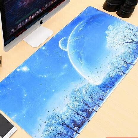 滑鼠墊 超大號鼠標墊辦公快捷鍵電腦桌墊游戲電競鍵盤墊女生可愛卡通定制