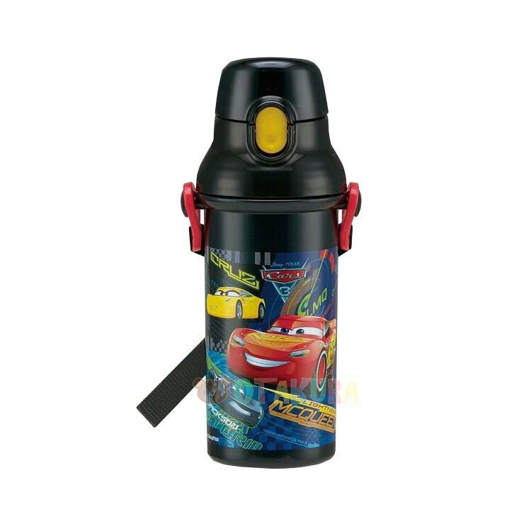 迪士尼 DISNEY 閃電麥坤 CARS 塑膠彈蓋直飲水壺 兒童水壺 日本進口正版 378737