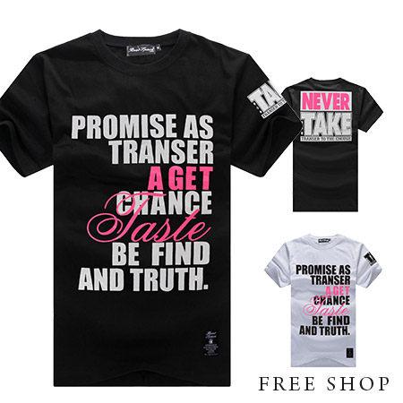 Free Shop~QJFJ4889~美式休閒潮流配色文字印花棉質短T短袖上衣潮T‧二色