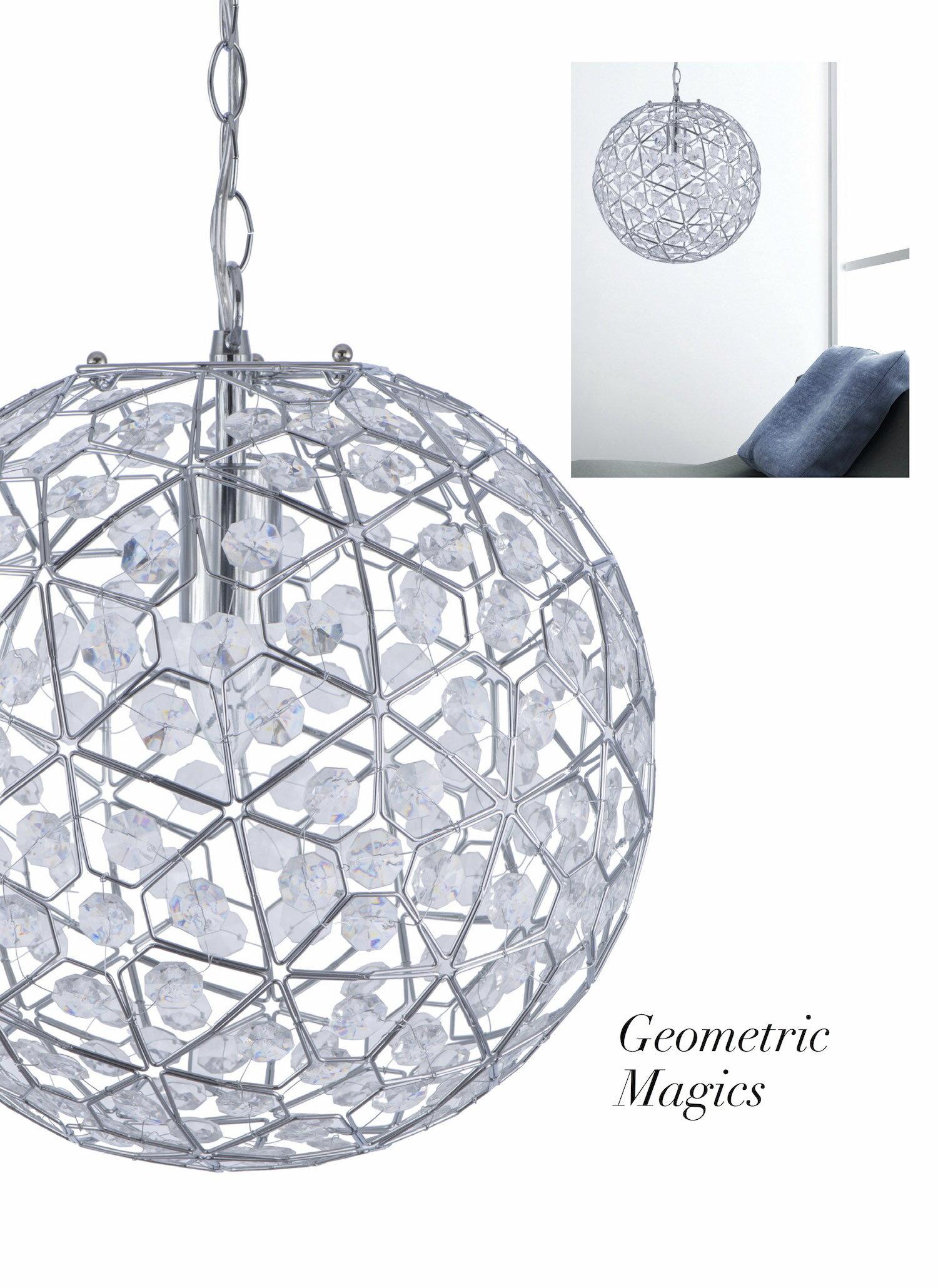 圓形幾何圖案壓克力吊燈-BNL00069 7