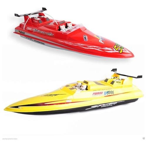 Microgear Get ready to Run Radio Control Avant Courier RC Boat - Yellow