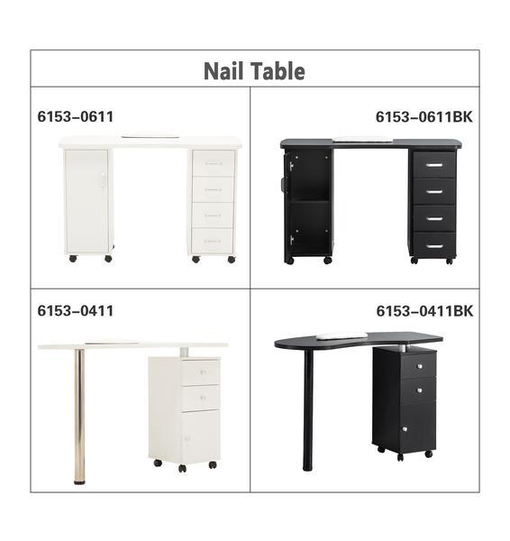 mcombo: BarberPub Nail Table Manicure Nail Art Table Desk White ...