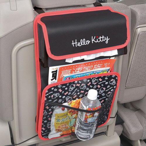【禾宜精品】置物袋 車用後座收納袋 椅背面紙盒套 SEIWA KT475 Kitty 多功能 車用 置物 收納