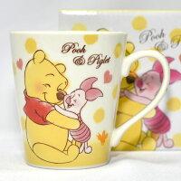 小熊維尼周邊商品推薦小熊維尼與小豬 陶瓷馬克杯 正版 日本帶回