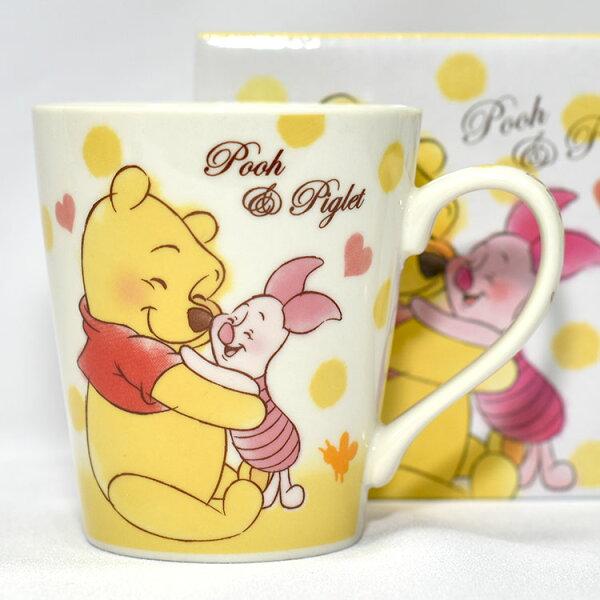 小熊維尼與小豬陶瓷馬克杯正版日本帶回