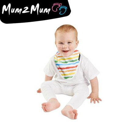 Mum 2 Mum 雙面竹纖維棉機能口水巾圍兜-彩紅/星星【悅兒園婦幼用品館】