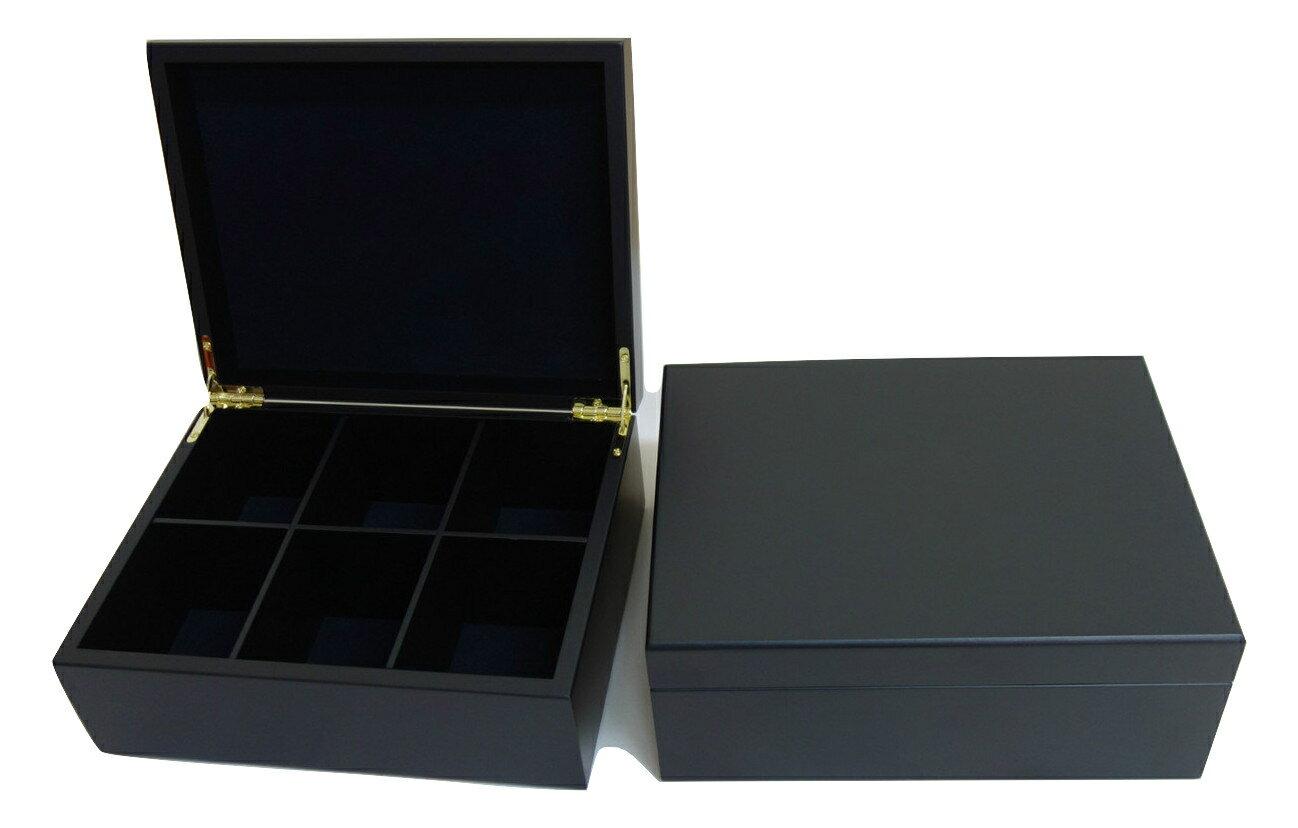 6格茶包手工製茶包盒-黑色 ,台灣製 ,茶包收納盒,內部分隔板可移動, 精美質感木盒 diy收納盒 茶品收納盒 收納盒 木盒 茶包保存