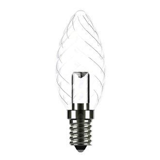 ★凌尚★螺紋尖頭透明LED蠟燭燈燈泡E14燈頭★琥珀色