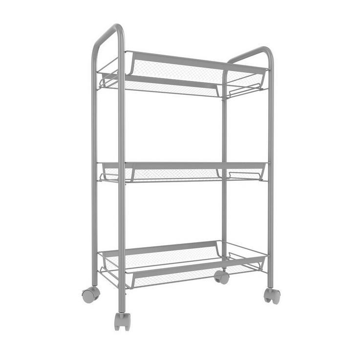 3/4/5 Tier Rolling Cart Organization with Wheels Net Basket Storage Cart Rack 5