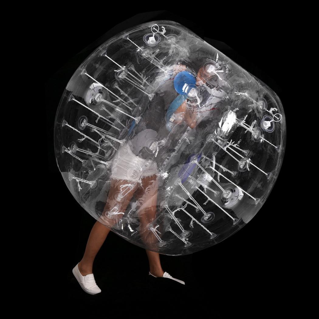 PVC Transparent 1.5M Diameter Inflatable Bumper ball Human Knocker Ball Bubble Soccer 0