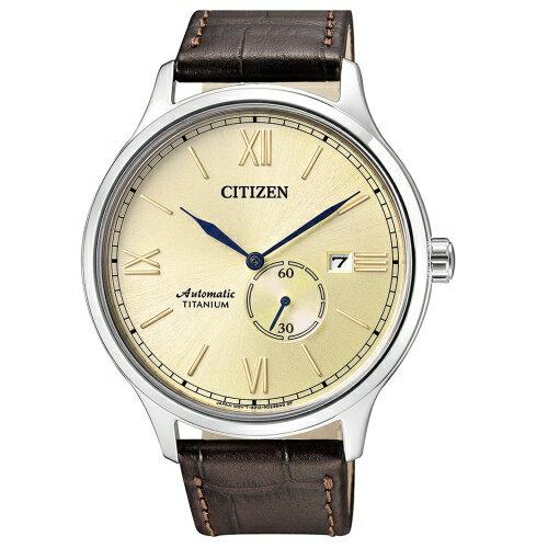 方采鐘錶:CITIZEN星辰GENTS紳仕氣度機械男錶鈦金屬NJ0090-13P