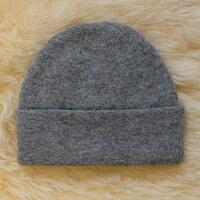 保暖配件推薦紐西蘭100%純羊毛帽*素面灰色(美麗諾Merino)
