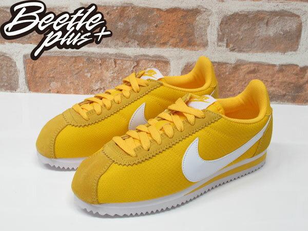 女生 BEETLE NIKE CLASSIC CORTEZ NYLON 亮黃 阿甘鞋 慢跑鞋 749864-717 2