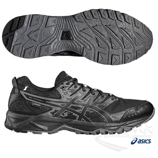ASICS亞瑟士 男慢跑鞋 SONOMA3 G-TX (黑) 快速排汗與防水功能款【 胖媛的店 】