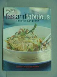【書寶二手書T8/餐飲_XFO】Fast and Fabulous_Mary Coleman