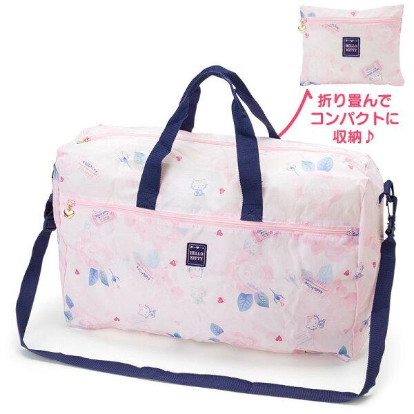 X射線【C760703】HelloKitty可折疊波士頓袋-GTV,旅行袋包裝袋衣物袋收納袋整理袋真空壓縮袋購物袋