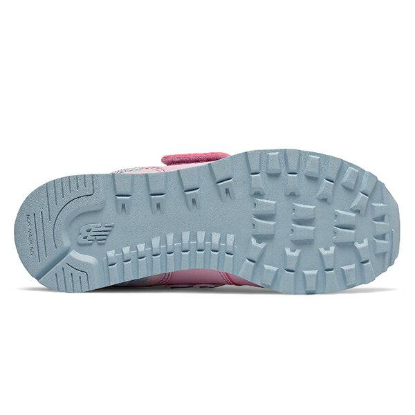 Shoestw【YV574KCR】NEW BALANCE NB574 運動鞋 黏帶 中童鞋 Wide 粉水藍 小花 3