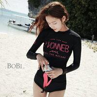 性感比基尼泳裝到二/三件式泳裝 字母運動防曬兩件套長袖泳裝【SF1608】 BOBI  04/14就在BOBI推薦性感比基尼泳裝