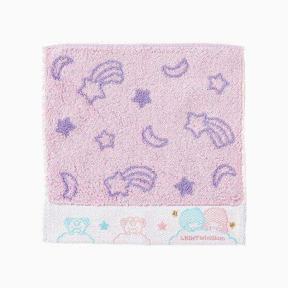 【真愛日本】17071100016 繻子織小方巾-TS星星月亮粉紫+AAX 三麗鷗kikilala雙子星 毛巾盥洗用品