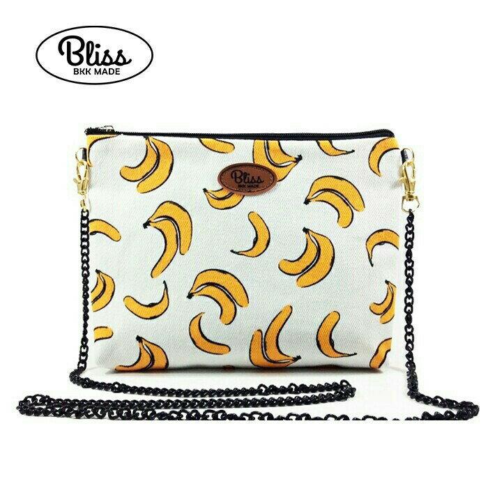 【正版】泰國BLISS BKK包手拿包側背包斜背包-可愛香蕉  (4款背帶可選) 影片實拍 X RUNWAY FASHION ICON