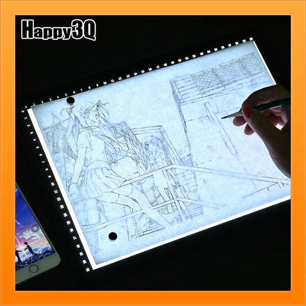 A4尺寸透光台畫圖描寫台素描漫畫附刻度描寫透光台300G卡紙可透磁吸固定-A4【AAA4552】