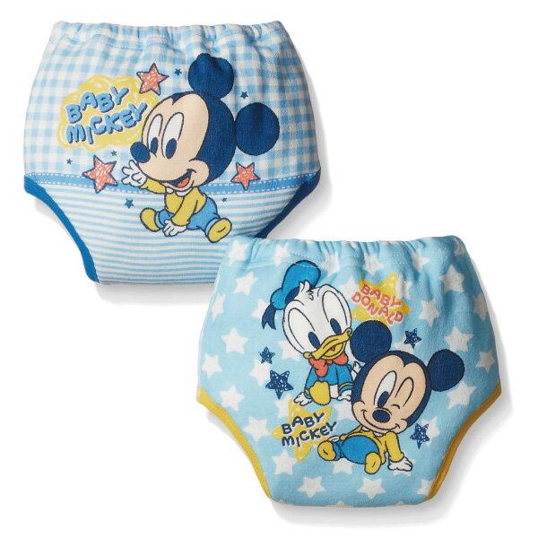 ★衛立兒生活館★日本 迪士尼 Disney 米奇四層學習褲/尿布褲(2件組)(80cm/90cm/95cm)