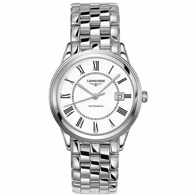 LONGINES 浪琴表 L48744216 旗艦羅馬經典腕錶/白面 38.5mm