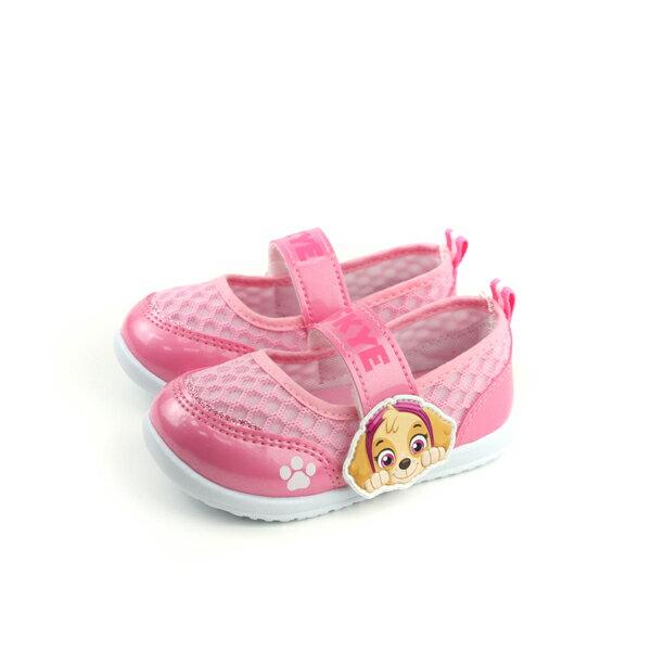 PAWPATROL狗狗汪汪娃娃鞋魔鬼氈童鞋粉紅色中童D84401no965