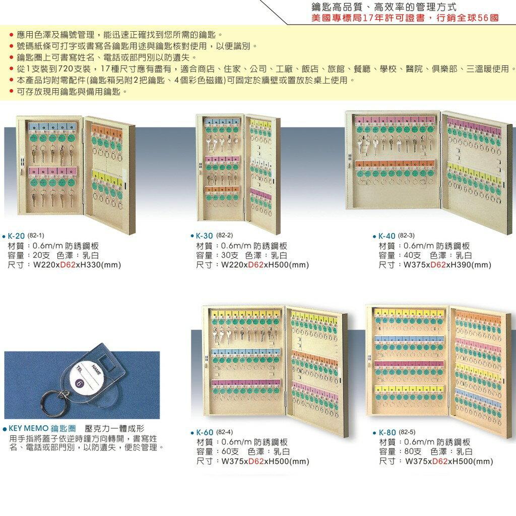 【大富】TATA K-80 鑰匙管理箱 (管理箱/收納箱/置物箱/鑰匙/飯店/學校/台灣品牌)