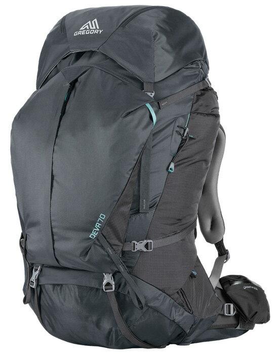 【鄉野情戶外專業】 Gregory |美國| Deva 70 登山背包《女款》/重裝背包 自助旅行背包-炭灰S/65039 【容量70L】