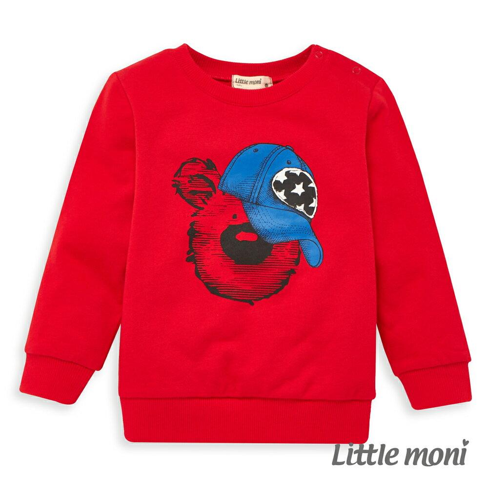 Little moni 圓領印圖毛圈上衣 -紅色(好窩生活節) 0