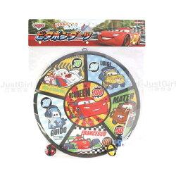 迪士尼 CARS 汽車總動員 麥昆 麥坤 丟球玩具 安全射飛鏢 標靶 正版日本進口 JustGirl