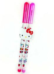 X射線【C829267】KITTY橡皮擦雙筆組,彩虹筆/文具/開學用品/筆/書寫工具/鉛筆/自動筆/凱蒂貓