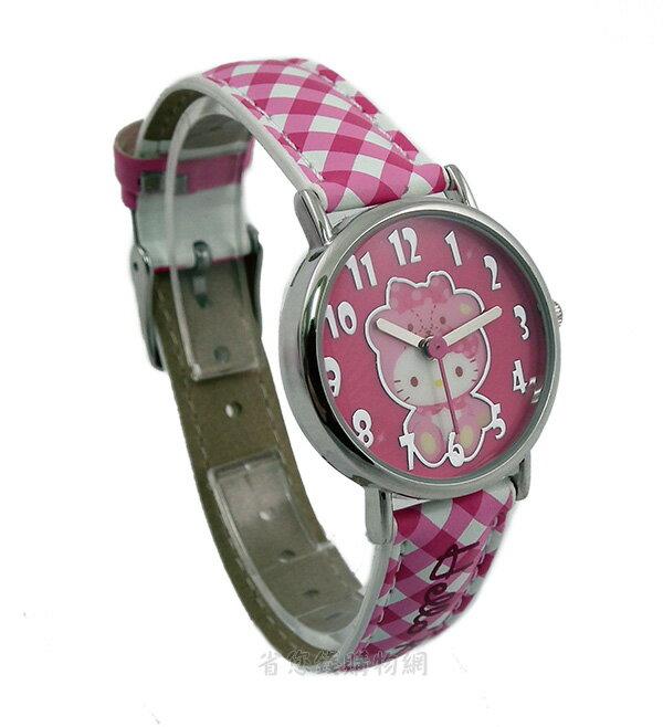 《省您錢購物網》Hello Kitty 躲喵喵桃紅色經典手錶~正版三麗鷗海外授權版(HKFR231-17B)+贈台製精品鬧鐘