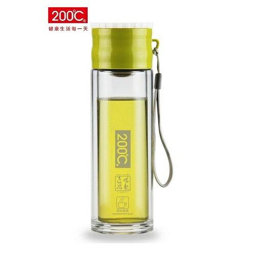 《省您錢購物網》全新~200℃ 寰宇雙層耐熱玻璃260ml 隨身瓶(C134-26)+贈大嘴猴 收納包*1個