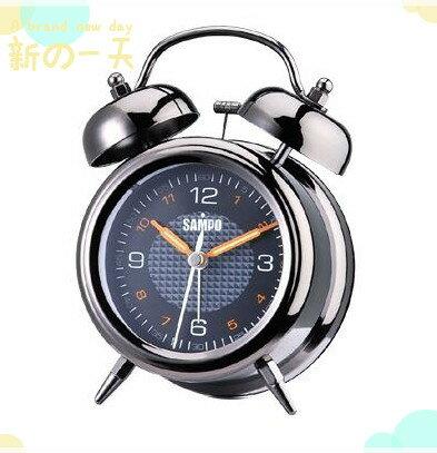 ~省您錢 網~近 品^~~聲寶 SAMPO~復古雙耳圓形貪睡鬧鐘 ^(PY~Z908ML^