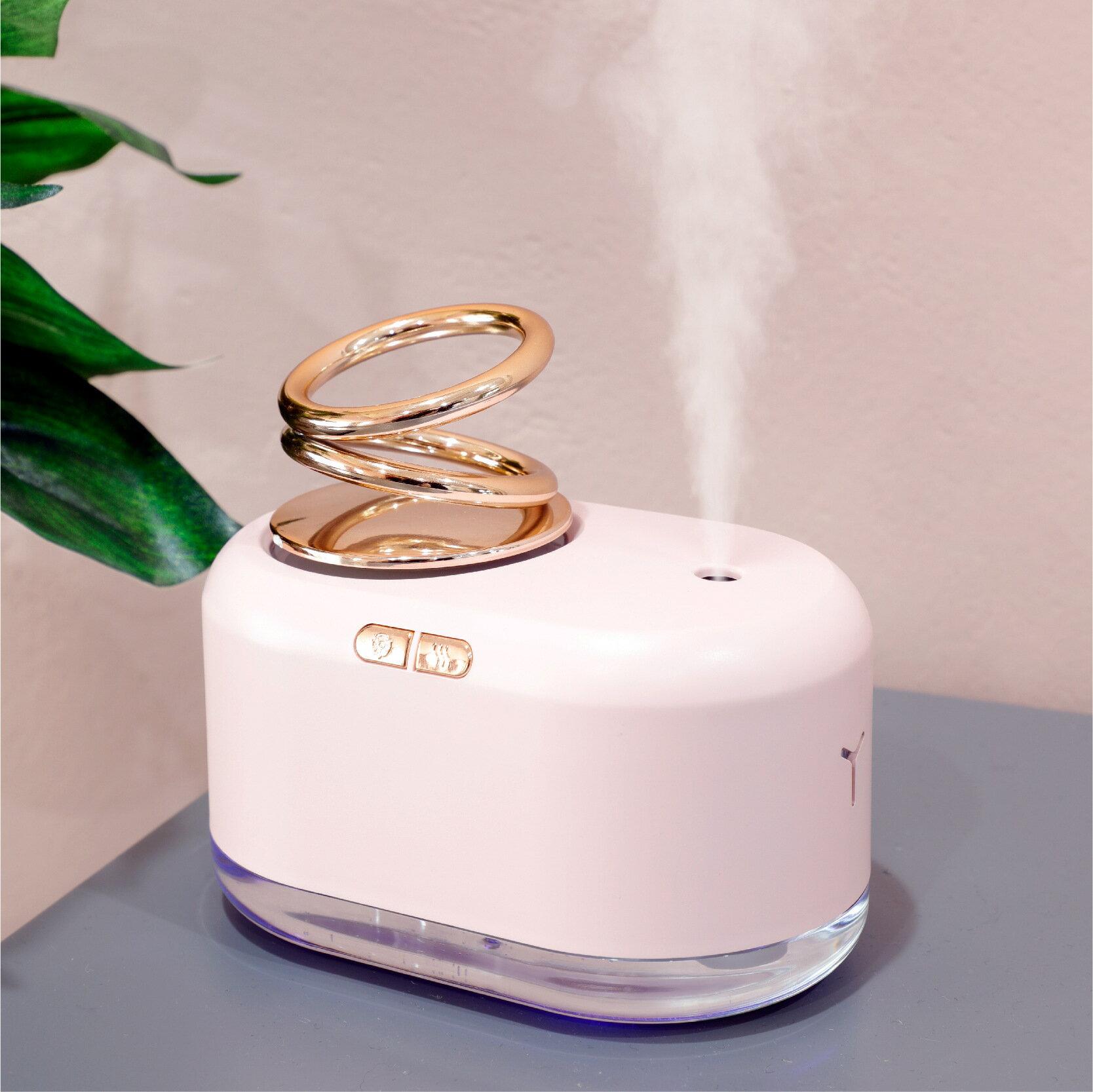新品桌面懸浮雙環加濕器 靜音定時噴霧usb小型家用增濕加濕器
