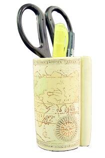 英國書本系列-地圖筆筒7x10cm