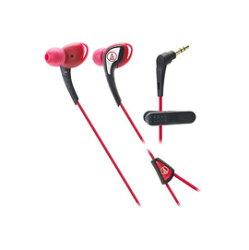 鐵三角 audio-technica ATH-SPORT2 紅色 運動型耳塞式耳機 (鐵三角公司貨)